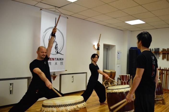 Taiko Training bei Ryota Kanazashi im Mugen Dojo Mülheim