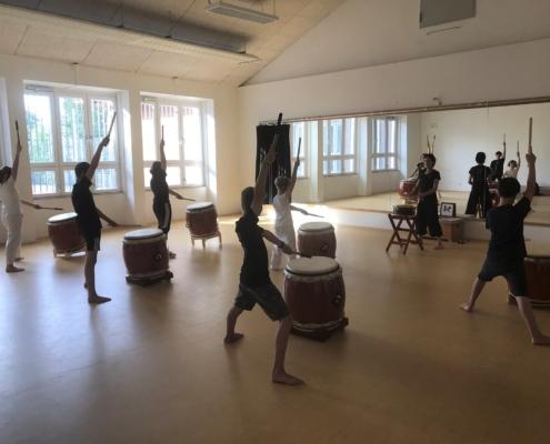 Taiko für Kinder, japanisches Trommeln für Kinder, Mülheim an der Ruhr