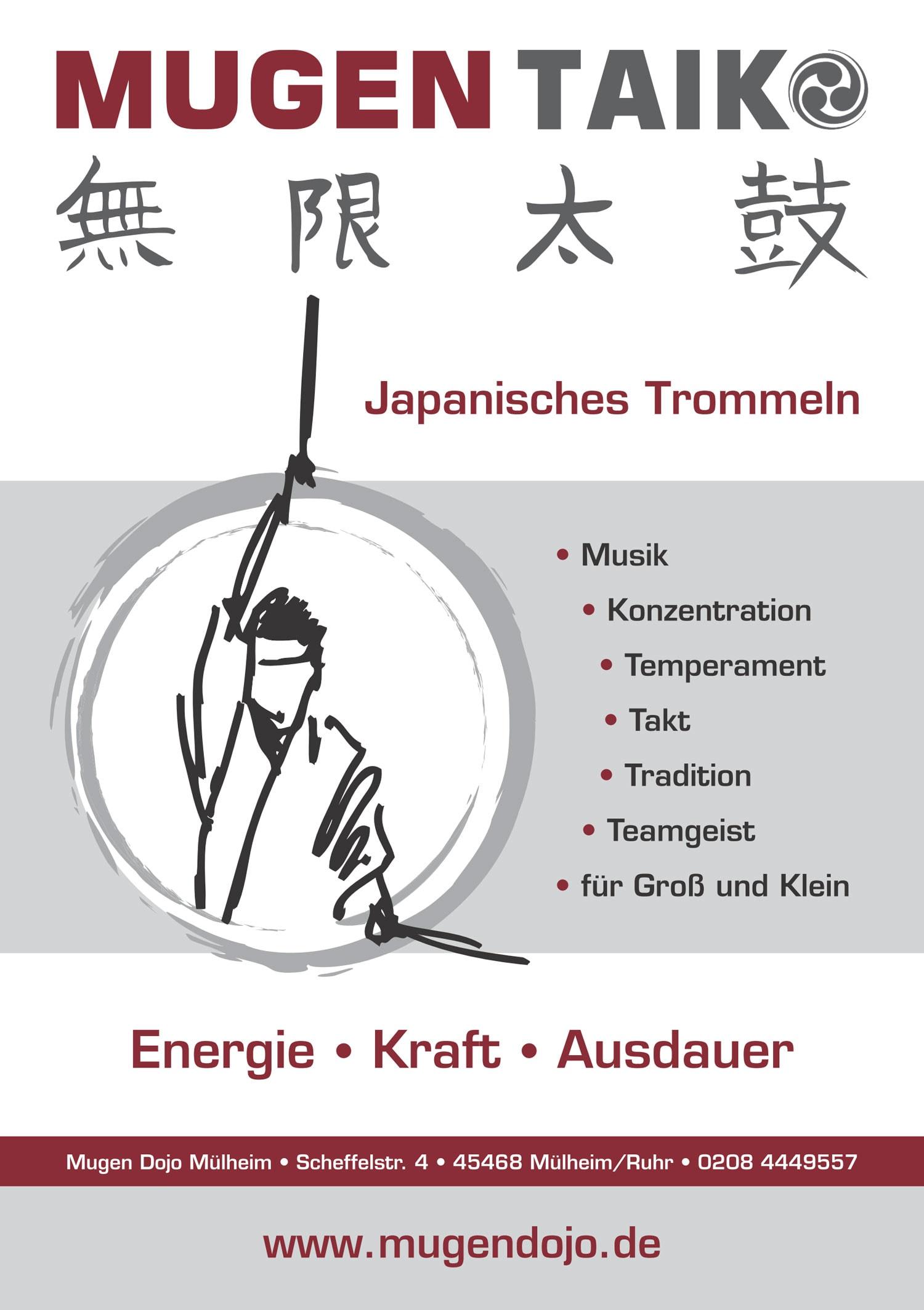 Mugen Taiko, Wadaiko, japanisches Trommeln Musik, Temperament, Konzentration, Tradition, Teamgeist